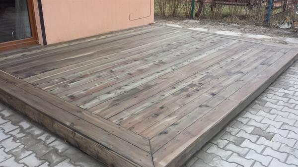 Terasa din larice tratata cu Eco lemn Tratament